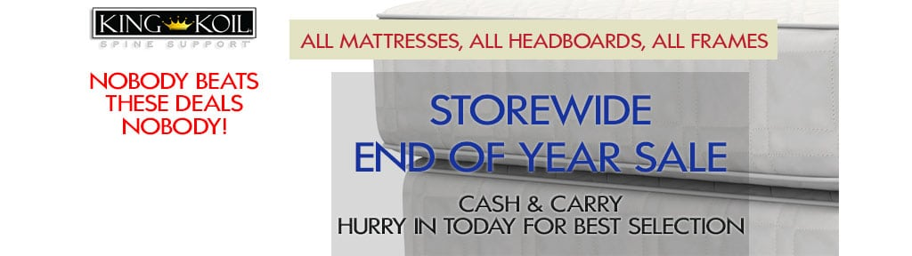 End of Year Mattress Sales
